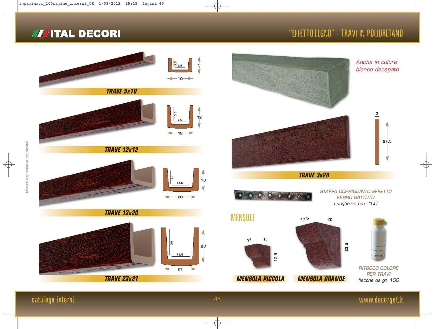 Travi in polistirolo effetto legno for Polistirolo prezzi