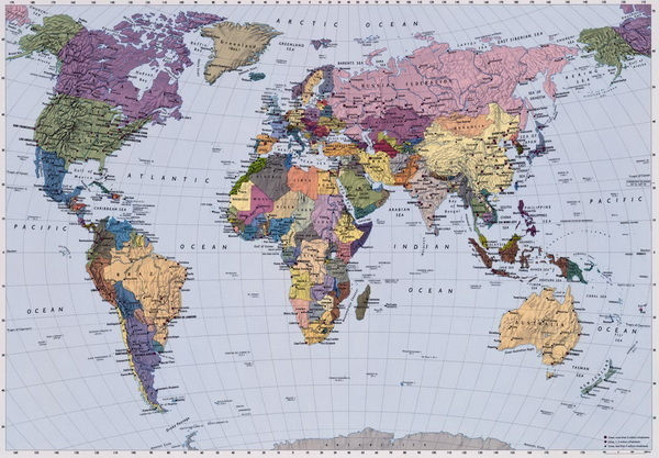 Foto murale WORLD MAP 4-050